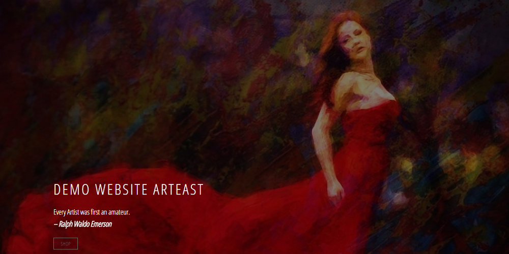 Arteast Website - Screen Image Page Link